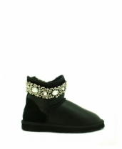 UGG & Jimmy Choo Crystal Metallic Black