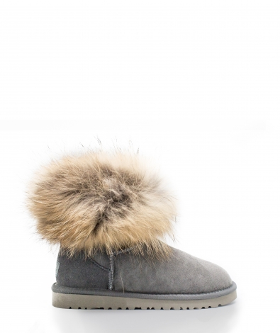 mini FOX FUR Grey