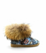 FOX FUR TRAVEL BLUE